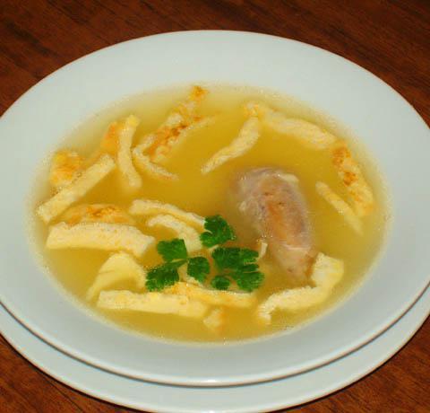 Суп с омлетом рецепт